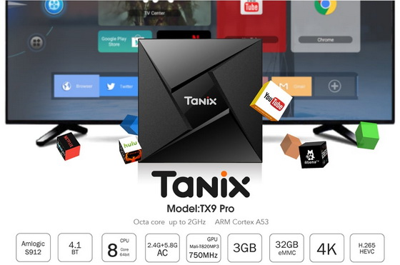 Latest Tanix TX9 Pro TV Box Firmware Download Android Nougat 7.1.2