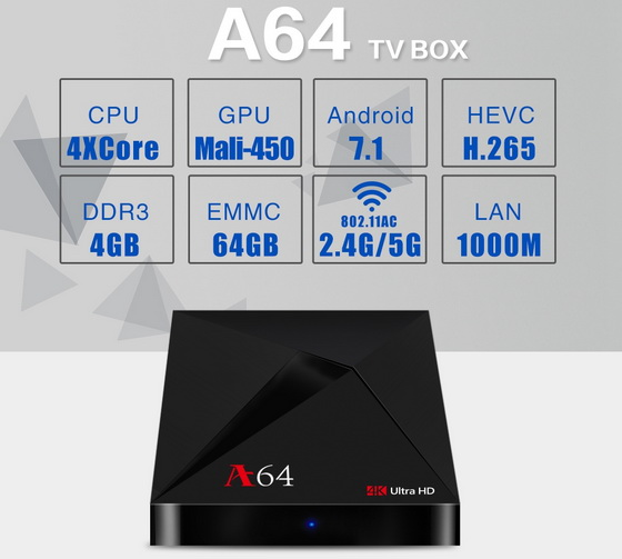 Latest A64 TV Box Firmware Download Android Nougat 7.1.2