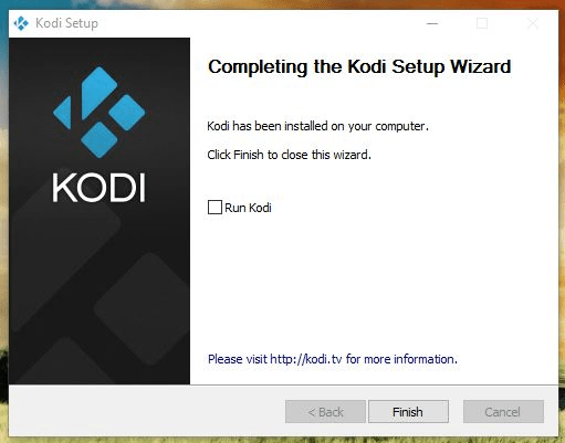 Step 4 Once completed click Finish to close the Installer