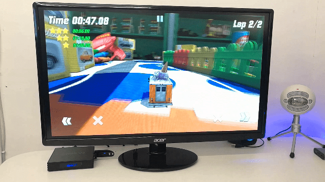 playing a Racing Game on the R99