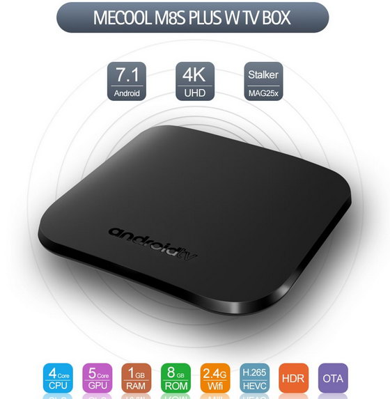 MECOOL M8S PLUS W Android 7.1 TV Box