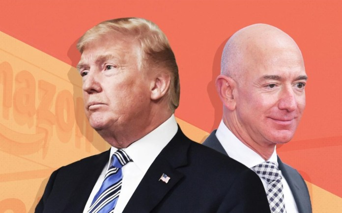 """Amazon accuses Donald Trump of """"stalking"""" and takes the Pentagon to court"""
