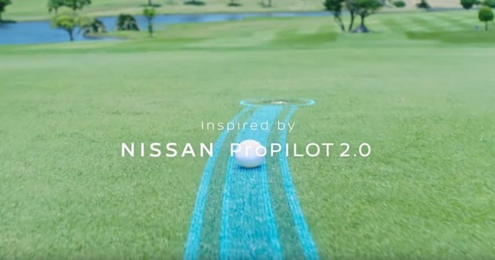 Golf ball coming in was always developed by Nissan (video)