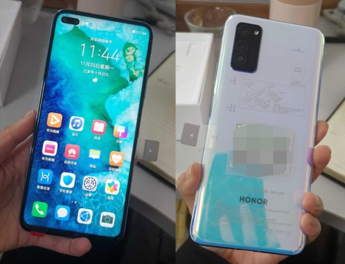Huawei Honor V30: Real images clarify smartphone design