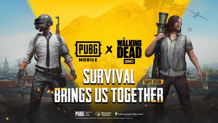 PUBG Mobile adds items from The Walking Dead for a limited time.