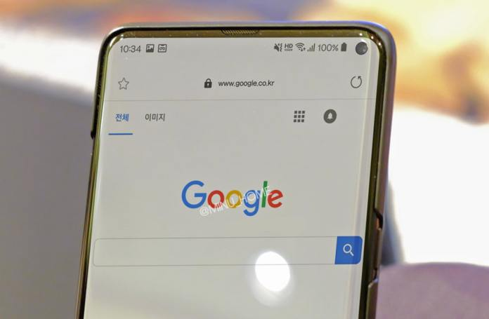 Image depicting Samsung Galaxy S10 but considered false
