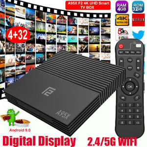 A95X F2 Android 9.0 4+32G Quad Core 2.4/5G WiFi TV BOX 4K 3D VP9+ Amlogic S905×2