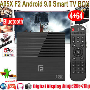 A95X F2 Android 9.0 4+64GB Quad Core 4K Smart TV BOX 5G WIFI BT Amlogic H.265 3D