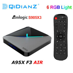 A95X F3 Air RGB Light TV Box Android 9.0 Amlogic S905X3Dual Wifi 4K Media Player