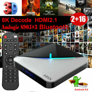 A95X F3 AIR Smart TV Box Android 9.0 8K Film UHD 75fps 2+16GB Media Player H5L5