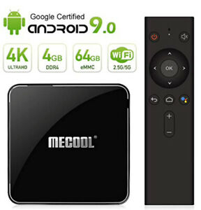 Mecool KM3 TV BOX Android 9.0 4K TV BOX/ Voice remote/DDR4/4G