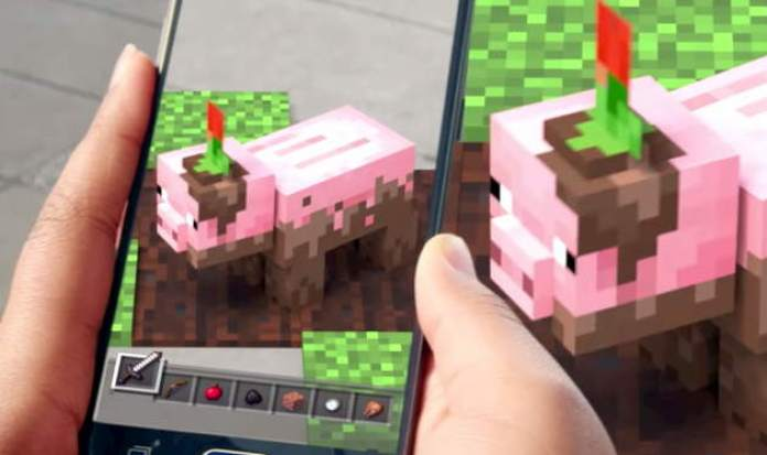 minecraft augmented reality AR microsoft mobile