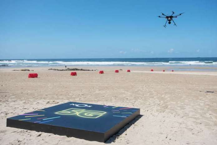 5g in the simulacro drone