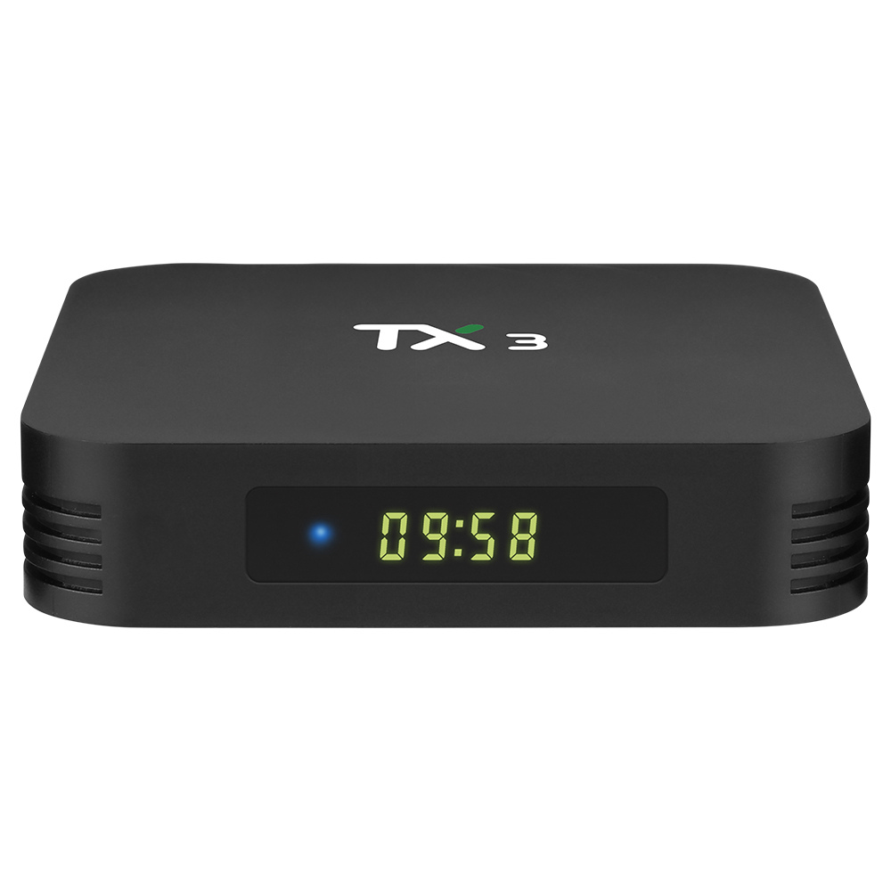 TANIX TX3 Amlogic S905x3 8K Video Decode Android 9.0 TV Box 4GB/32GB Bluetooth 2.4G+5.8G WiFi LAN USB3.0 Youtube Netflix Google Play