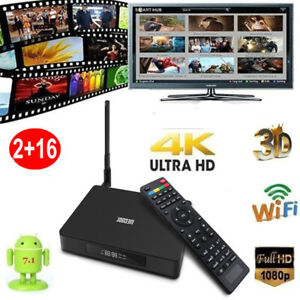 MECOOL K6 Android 7.0 TV Box 2/16GB 4-Core WIFI H.265 4K HD Video Media Player