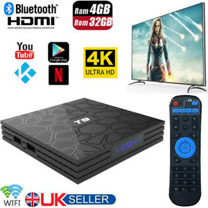 T9 4K TV Box Android 8.1 Quad Core Smart TV Box Netflix Media Player Set Top Box