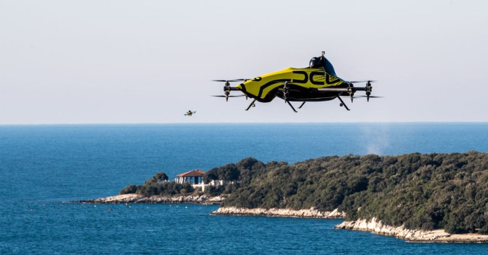 The first manned drone for stunts is only for brave dummies