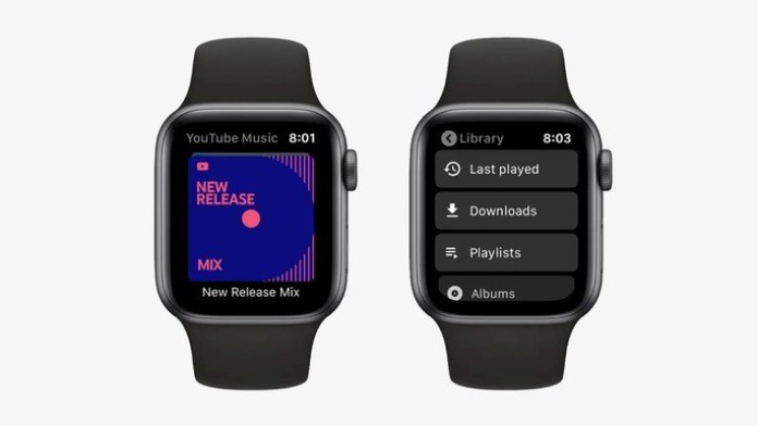 YouTube Music WatchOS Apple