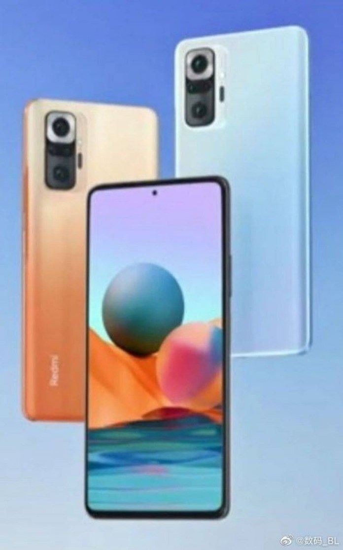 The likely design of the Redmi Note 10 Pro