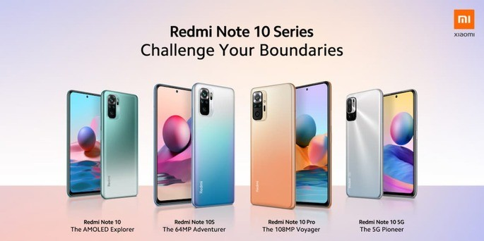Redmi Note 10 Series: the 4 new smartphones from Xiaomi