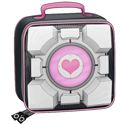 Portal Weighted Companion Cube Soft Tote Bag Lunch Box