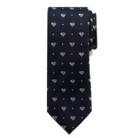 Superman Pin Dot Boys Large Silk Tie