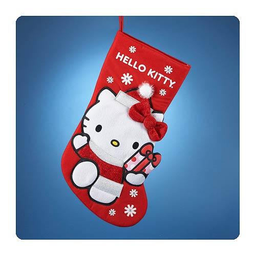 Hello Kitty Applique Red Christmas Stocking