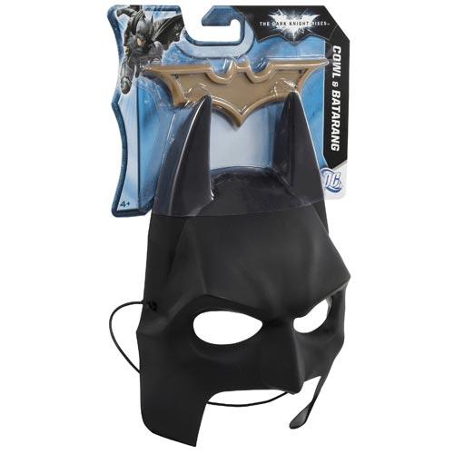 Dark Knight Rises Batman Cowl and Batarang