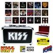KISS Album Cover Coaster Set in Guitar Case - Con. Excl.