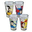 Star Trek Comic Strip Pint Glass 4-Pack