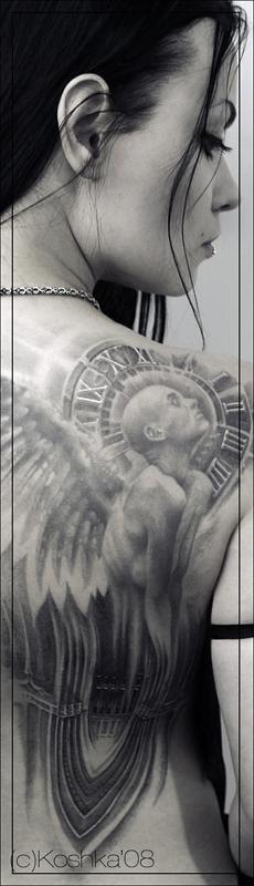 Angel Black Tattoo