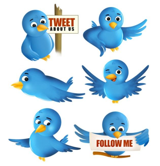 3 Twitter Icon Set