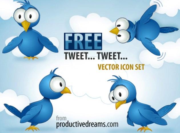 48 Twitter Icon Set