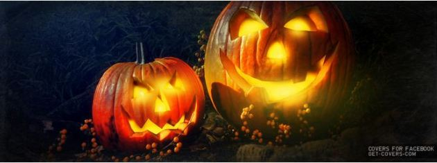 smiling spooky pumpkins halloween facebook cover photo