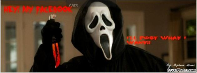 scream movie halloween facebook cover