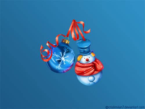 blue christmas wallpapers