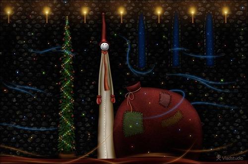 christmas ornaments wallpaper illustration
