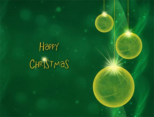 happy christmas green desktop background