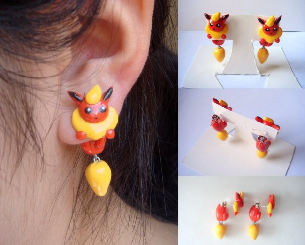 Clinging Flareon Earrings