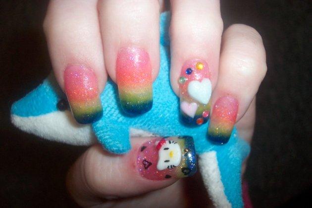 hello kitty rainbows