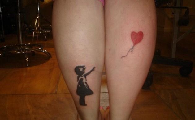 Banksy girl tattoo