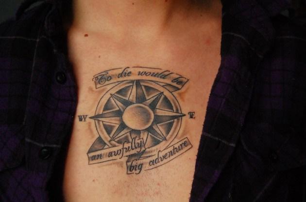 Chest Compass Tattoo
