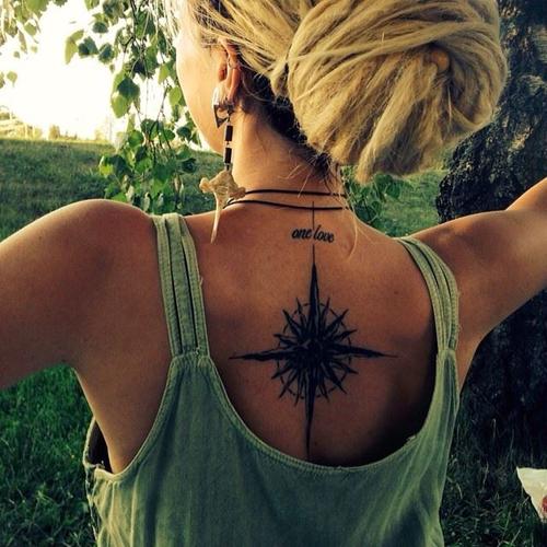 One Love Compass Tattoo