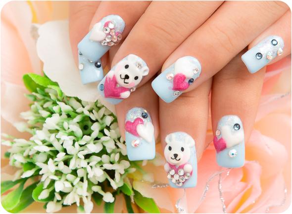 albino teddy nails