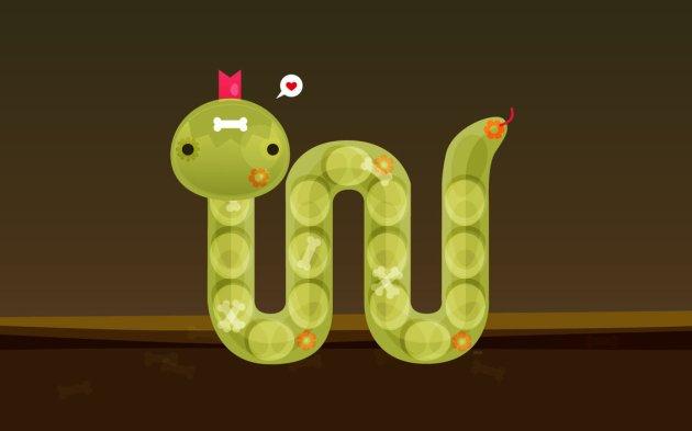 Cute Snake Vector Illustration