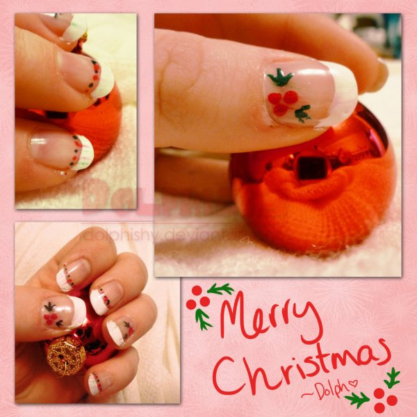 christmas inspired manicure