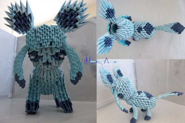 3D Origami - Glaceon