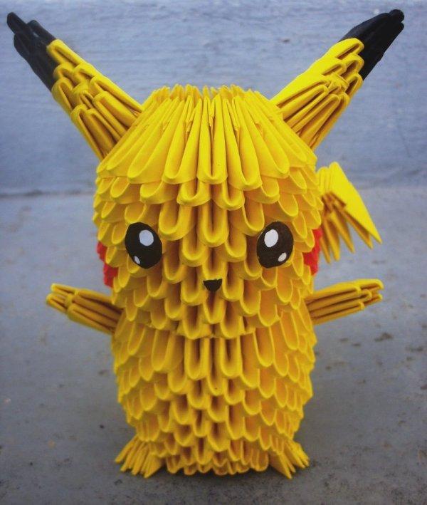 Pikachu - 3D origami