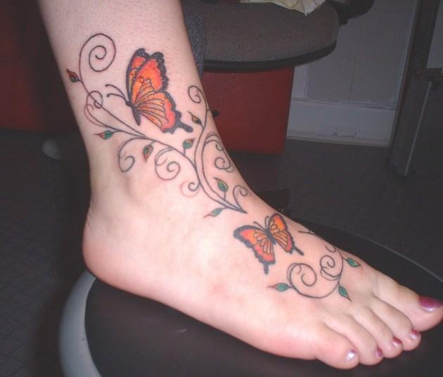 Swirls Butterfly Tattoo