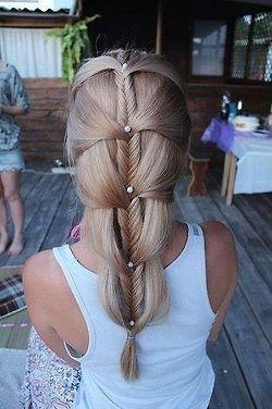 creative braided hair style